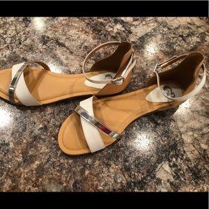 Gianni Bini Simple Two Tone Sandals!